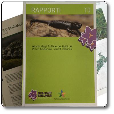 Rapporti 10 - Atlante degli Anfibi e dei Rettili del Parco Nazionale Dolomiti Bellunesi