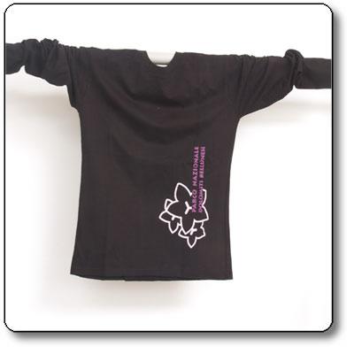 T-Shirt donna cotone equosolidale Parco Nazionale Dolomiti Bellunesi - colore nero