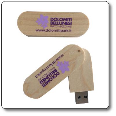 Chiavetta USB 16 Gb del Parco Nazionale Dolomiti Bellunesi