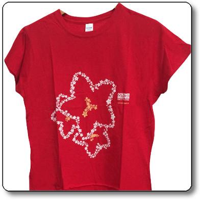 T-shirt donna colore rosso - Parco Nazionale Dolomiti Bellunesi