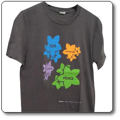 T-shirt unisex colore Grigio scuro - Parco Nazionale Dolomiti Bellunesi
