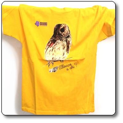 """Maglietta bimbo """"allocco"""" colore giallo Parco Nazionale Dolomiti Bellunesi"""