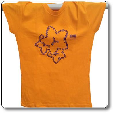 T-shirt donna colore arancio - Parco Nazionale Dolomiti Bellunesi