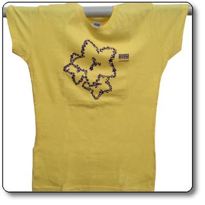 T-shirt donna colore giallo - Parco Nazionale Dolomiti Bellunesi