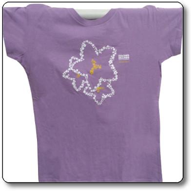 T-shirt donna colore lilla - Parco Nazionale Dolomiti Bellunesi