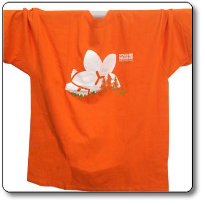 T-shirt unisex colore arancio - Parco Nazionale Dolomiti Bellunesi