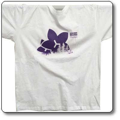 T-shirt unisex colore bianco - Parco Nazionale Dolomiti Bellunesi