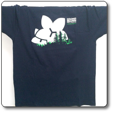 T-shirt unisex colore blu/grigio - Parco Nazionale Dolomiti Bellunesi