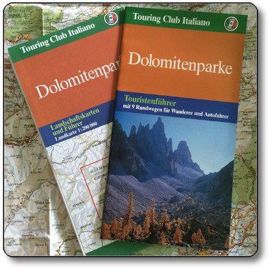 Dolomitenparke - Landschaftskarten und Touristenfuhrer